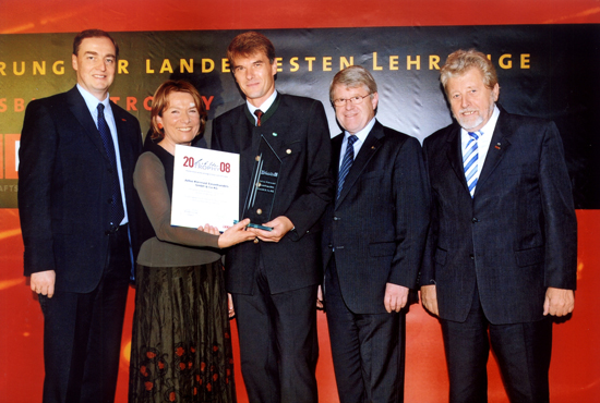 2008 - Lehrlingstrophy: Dr. Christian Moseer, Präs. KR Sonja Zwazl, Heimo Krammer, KR Johann Ostermann, Vizepräs. KR Günter Kiermaier
